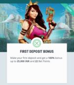 Casino welcome bonus offer