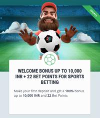 Sports welcome bonus code
