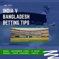 India v Bangladesh 2nd test betting tips