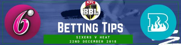 Betting predictions for Sydney Sixers v Brisbane Heat