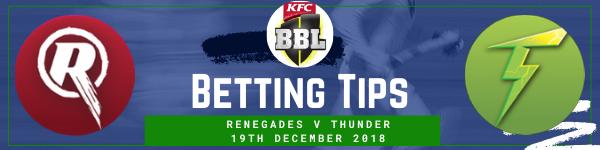 Betting predictions for Renegades v Thunder BBL
