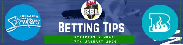 Betting predictions for Adelaide Strikers v Brisbane Heat BBL 17-1-20