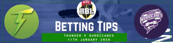 Betting predictions for Sydney Thunder v Hobart Hurricanes BBL 11-1-20