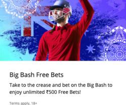 Big Bash free bet offer