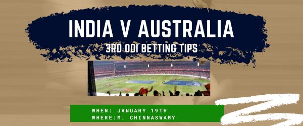 India v Australia betting tips - 3rd match (1)